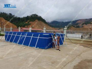 Bể bơi lắp ghép di động ngoài trời tại tỉnh Quảng Trị