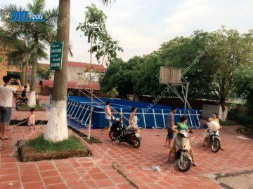 Bể bơi lắp ghép khung kim loại tại Tỉnh Quảng Ninh