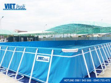 Bể bơi di động thông minh <br> 9,6m x 24,6m