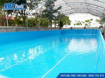 Dung dịch clo hòa trong các bể bơi di độngcó tác dụng ra sao?