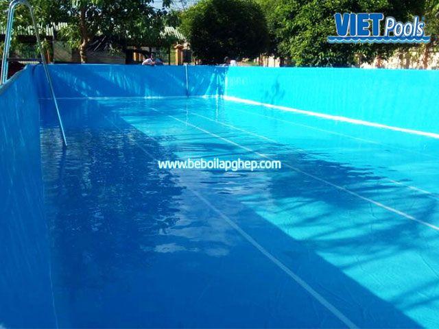 Bể bơi di động lắp ghép VIETPOOLS tại Cẩm Mỹ Đồng Nai 1
