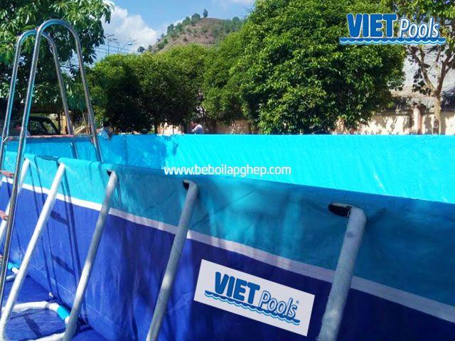 Bể bơi di động lắp ghép VIETPOOLS tại Cẩm Mỹ Đồng Nai 2