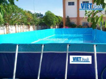 Bể bơi di động lắp ghép VIETPOOLS tại Cẩm Mỹ Đồng Nai