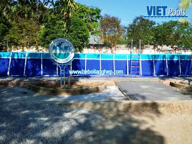 Bể bơi di động lắp ghép VIETPOOLS tại Cẩm Mỹ Đồng Nai 4