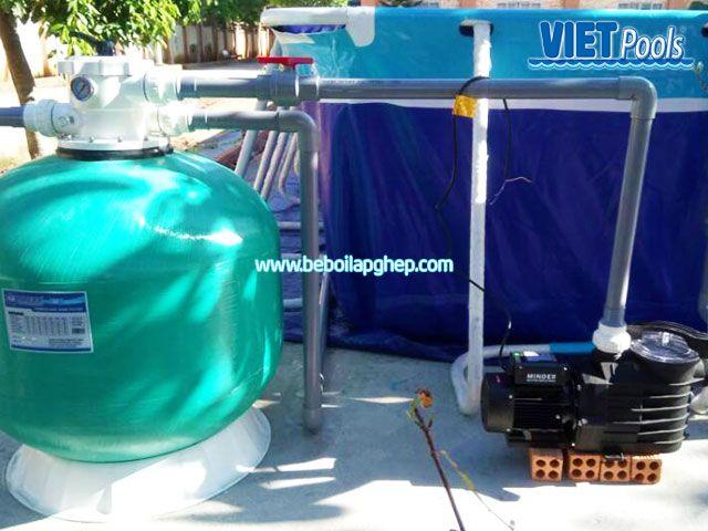 Bể bơi di động lắp ghép VIETPOOLS tại Cẩm Mỹ Đồng Nai 5