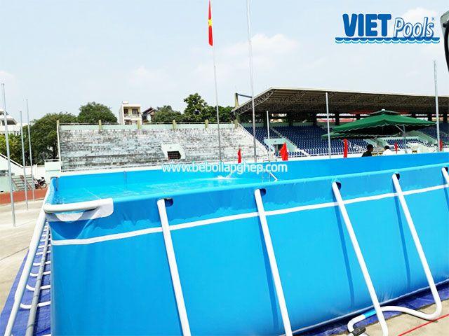 bể bơi di động lắp ghép vietpools tại tttdtt lạng sơn 2
