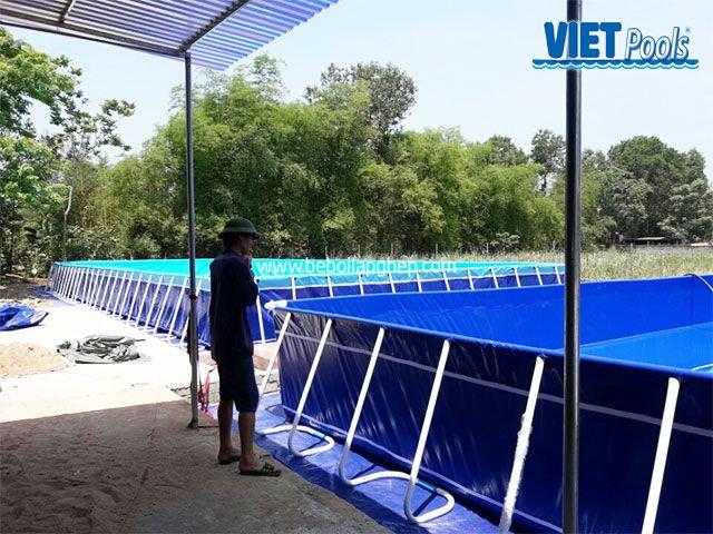 Bể bơi di động VIETPOOLS tại Quỳnh Hợp - Nghệ An 2