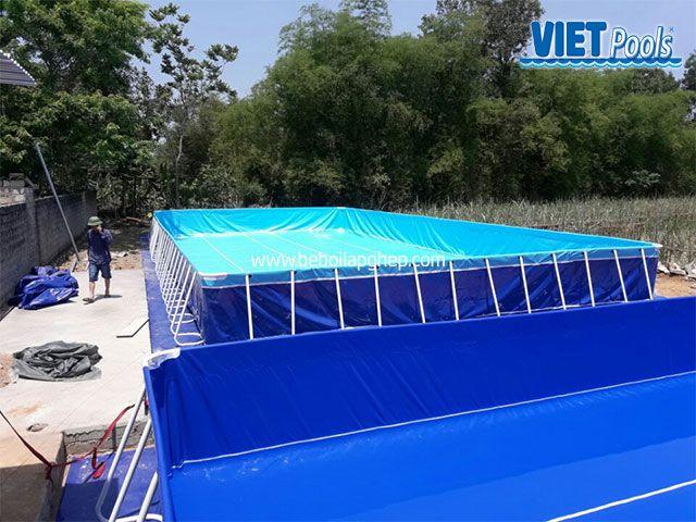 Bể bơi di động VIETPOOLS tại Quỳnh Hợp - Nghệ An 3