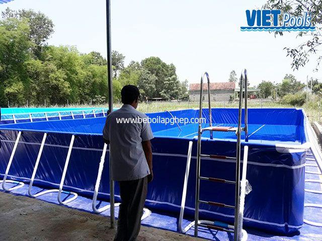 Bể bơi di động VIETPOOLS tại Quỳnh Hợp - Nghệ An 1