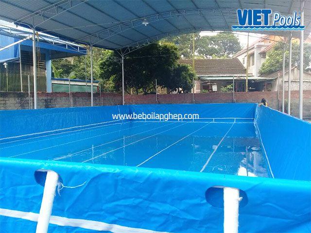 Bể bơi di động VIETPOOLS 9,6m x 20,1m x 1,32m tại Thái Nguyên 4