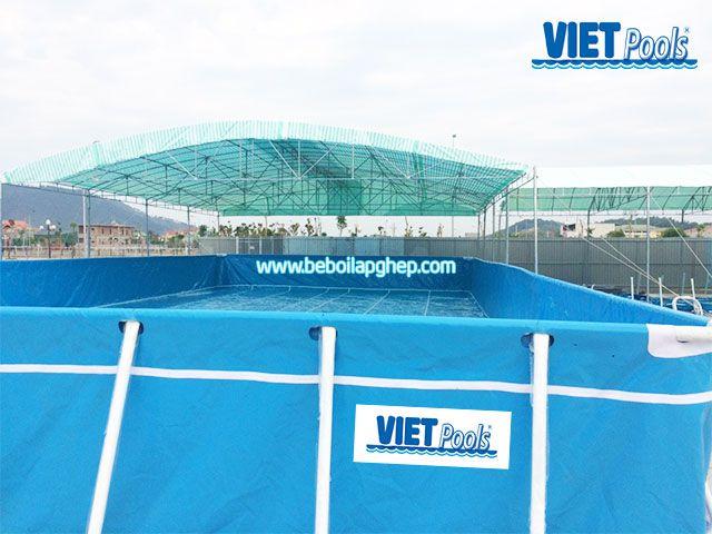Bể bơi khung kim loại Vietpools tại Nam Đàn Nghệ An 1