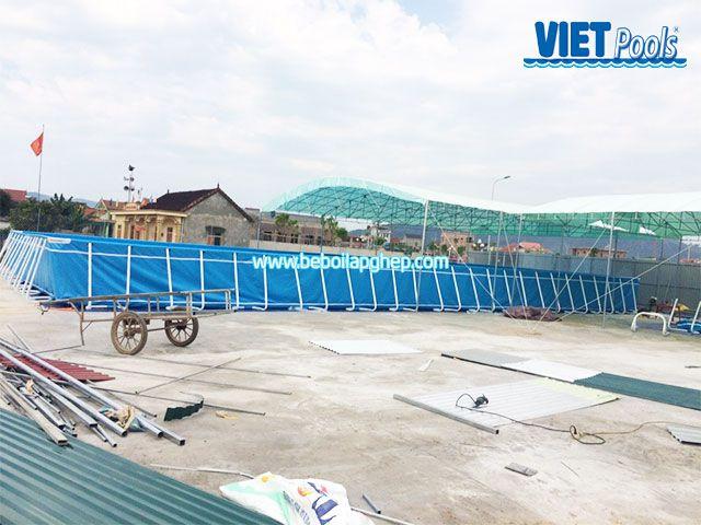 Bể bơi khung kim loại Vietpools tại Nam Đàn Nghệ An 2
