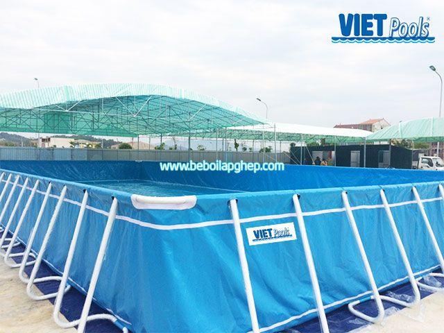 Bể bơi khung kim loại Vietpools tại Nam Đàn Nghệ An 3