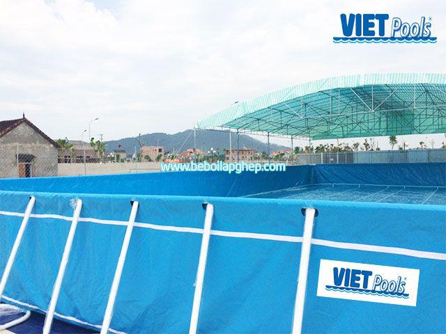 Bể bơi khung kim loại Vietpools tại Nam Đàn Nghệ An 4
