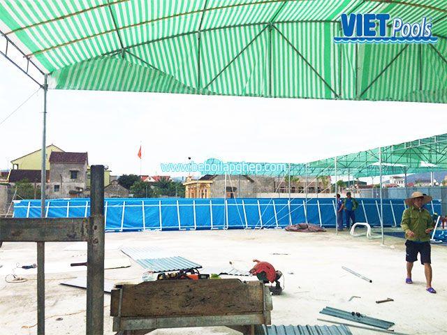 Bể bơi khung kim loại Vietpools tại Nam Đàn Nghệ An 5