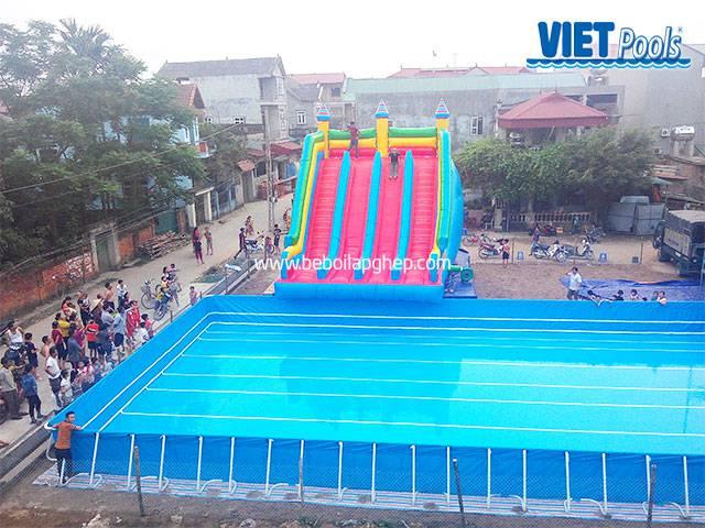 Bể bơi lắp ghép Vietpools kết hợp nhà hơi tại vĩnh phúc 1