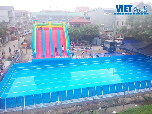 Bể bơi lắp ghép Vietpools kết hợp nhà hơi tại vĩnh phúc 2