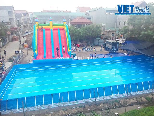 Bể bơi lắp ghép Vietpools kết hợp nhà hơi tại vĩnh phúc 3
