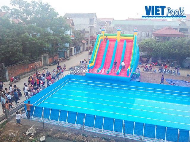Bể bơi lắp ghép Vietpools kết hợp nhà hơi tại vĩnh phúc 4