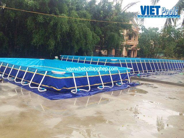 Bể bơi lắp ghép VIETPOOLS tại Chí Linh - Hải Dương 1