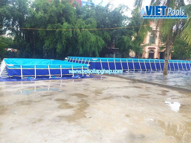 Bể bơi lắp ghép VIETPOOLS tại Chí Linh - Hải Dương 2