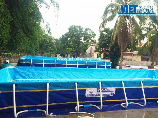 Bể bơi lắp ghép VIETPOOLS tại Chí Linh - Hải Dương 3