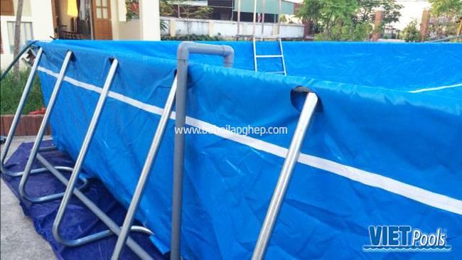 Hướng dẫn lắp đặt bể bơi di động P1 1