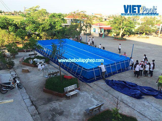 Bể bơi khung kim loại VIETPOOL tại Tiên Lãng 2