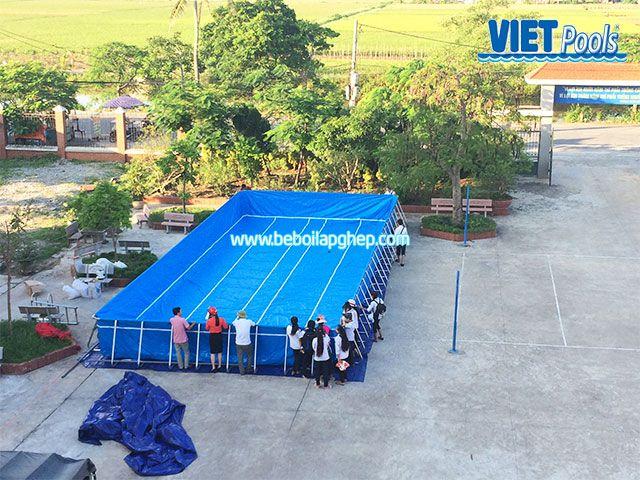 Bể bơi khung kim loại VIETPOOL tại Tiên Lãng 3