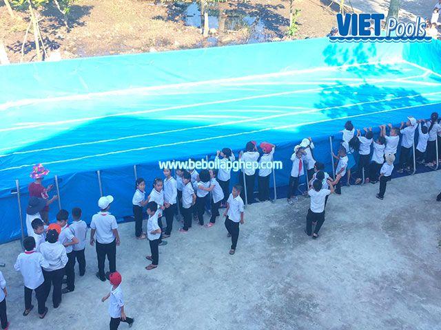 Bể bơi khung kim loại VIETPOOL tại Tiên Lãng 4