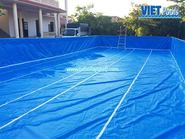 Bể bơi khung kim loại VIETPOOL tại Tiên Lãng 5