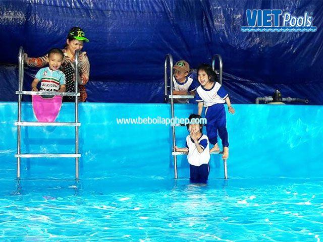 Bể bơi di động lắp ghép VIETPOOLS tại Bình Thuận 2