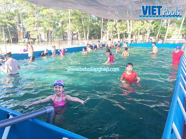 Bể bơi di động lắp ghép VIETPOOLS tại Bình Thuận 3