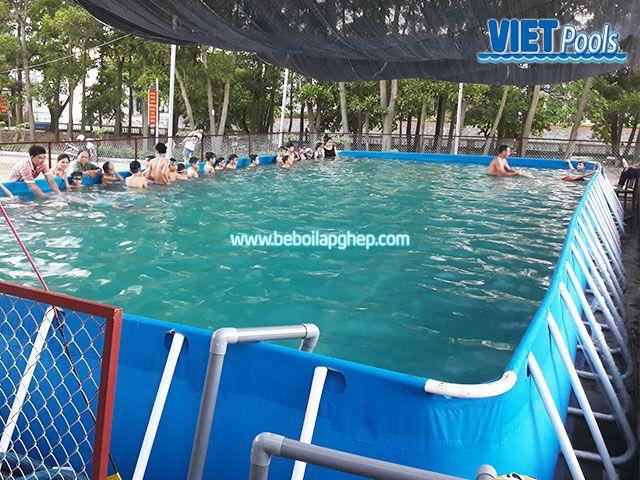 Bể bơi di động lắp ghép VIETPOOLS tại Bình Thuận 4