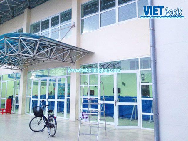 Bể bơi VIETPOOLS tại Tiểu học Lê Lợi Bể bơi VIETPOOLS tại Trường tiểu học Lê Lợi1