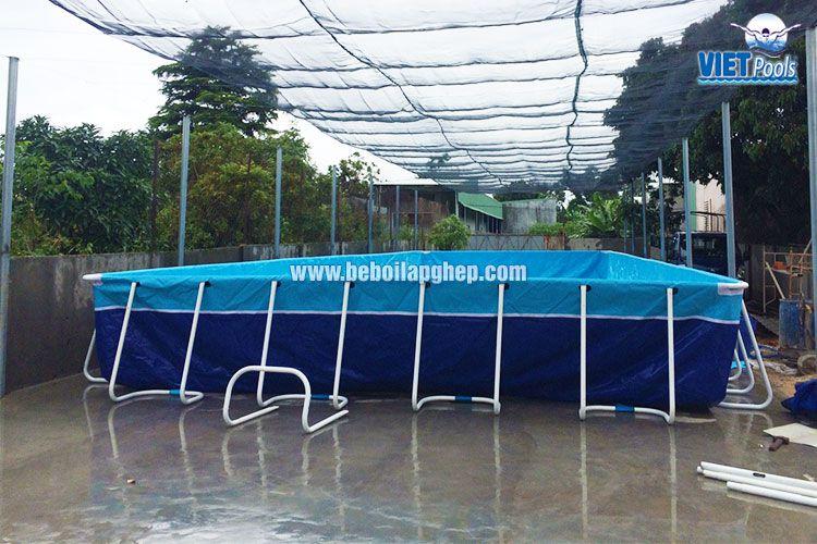 Bể bơi khung kim loại VIETPOOLS giá rẻ 1