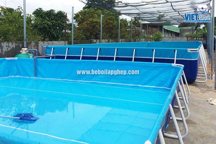 Bể bơi khung kim loại VIETPOOLS giá rẻ 2