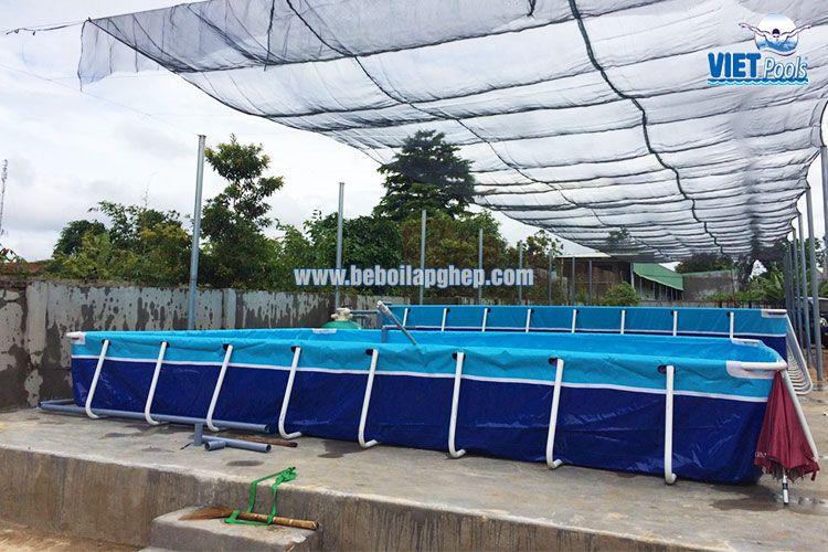 Bể bơi khung kim loại VIETPOOLS giá rẻ 3