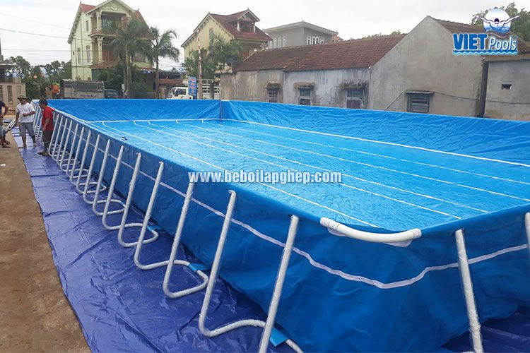 Bể bơi lắp ghép thông minh VIETPOOLS tại Tân Kỳ Nghệ An 2