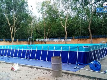 Bể bơi lắp ghép thông minh Vietpools tại tiểu học Xuân Quế
