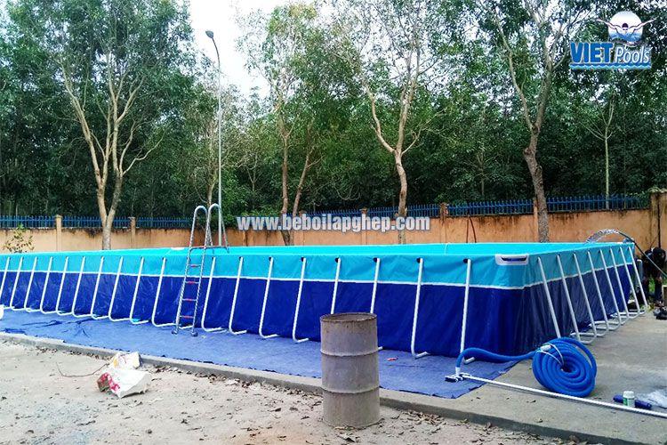 Bể bơi lắp ghép thông minh Vietpools tại tiểu học Xuân Quế 1