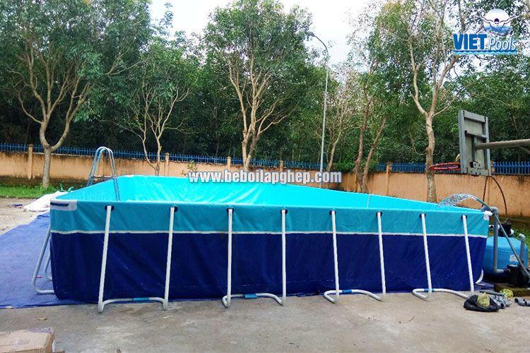 Bể bơi lắp ghép thông minh Vietpools tại tiểu học Xuân Quế 2