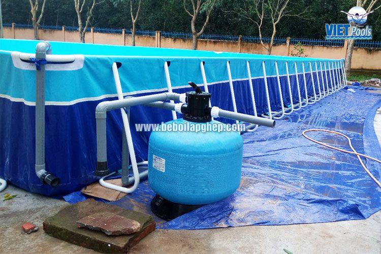 Bể bơi lắp ghép thông minh Vietpools tại tiểu học Xuân Quế 3
