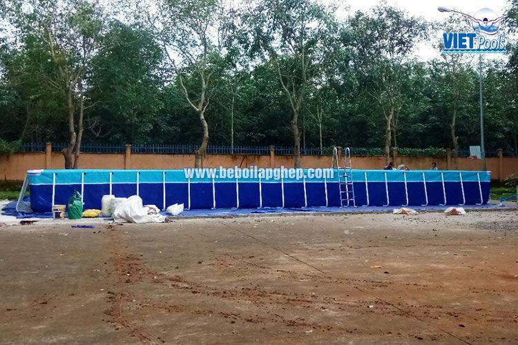Bể bơi lắp ghép thông minh Vietpools tại tiểu học Xuân Quế 4