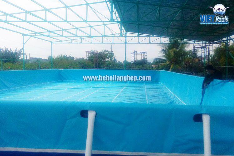 Bể bơi di động Vietpools 10x25m tại Phan Thiết 2