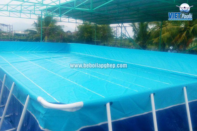 Bể bơi di động Vietpools 10x25m tại Phan Thiết 3