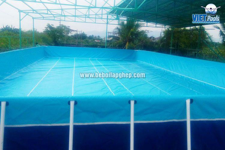 Bể bơi di động Vietpools 10x25m tại Phan Thiết 4