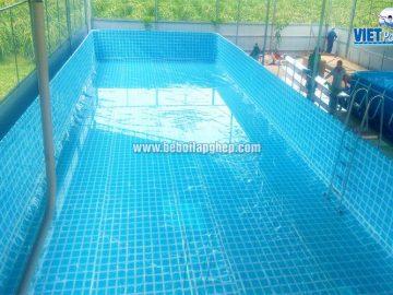 Bể bơi khung kim loại Vietpools tại Bình Thuận