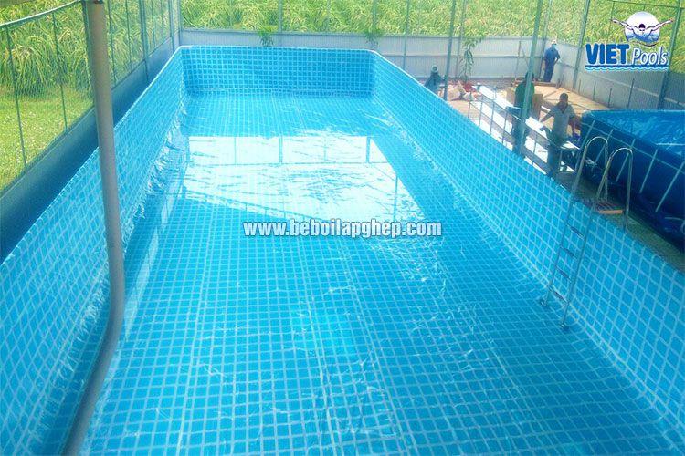 Bể bơi khung kim loại Vietpools tại Bình Thuận 1