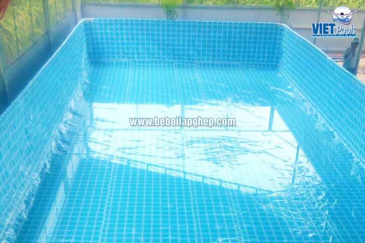 Bể bơi khung kim loại Vietpools tại Bình Thuận 2